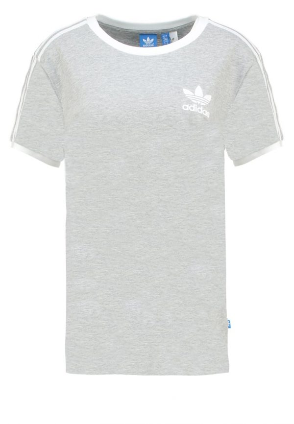 adidas Originals 3STRIPES  Camiseta print medium grey heather