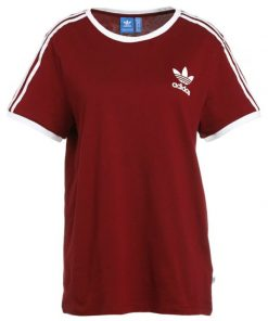 adidas Originals 3STRIPES  Camiseta print bordeaux