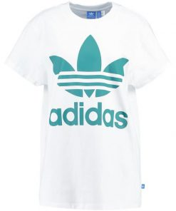 adidas Originals BIG TREFOIL Camiseta print white/green