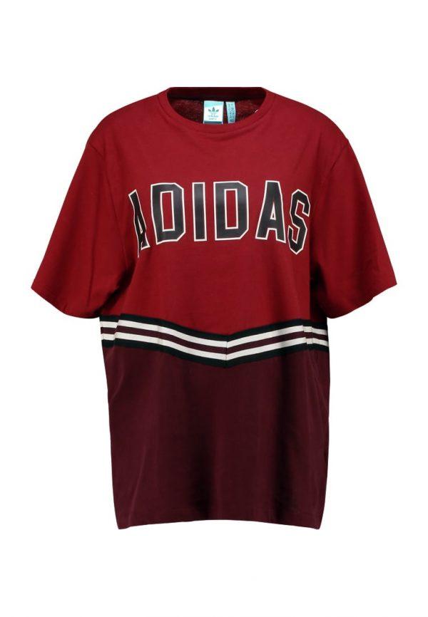 adidas Originals ADIBREAK TEE Camiseta print collegiate burgundy