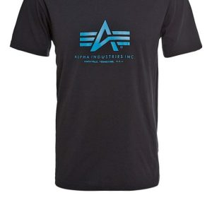 Alpha Industries Camiseta print black/blue