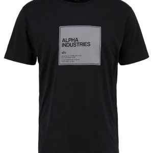 Alpha Industries Camiseta print black