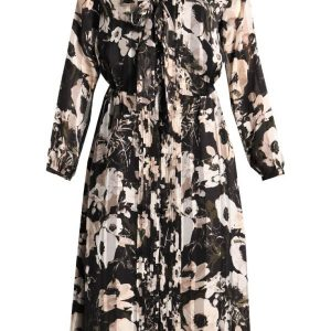 Banana Republic BIAS CUT NANCY FLORAL Vestido camisero olive