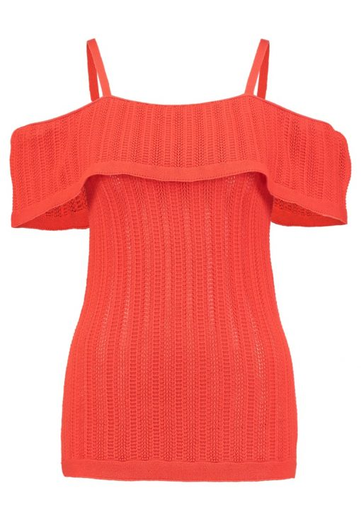 Dorothy Perkins POINTELLE COLD SHOULDER  Top orange