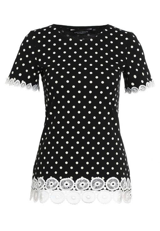 Dorothy Perkins POLKA DOT  Camiseta print black