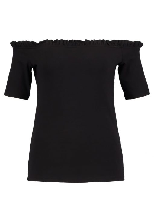 Dorothy Perkins RUFFLE EDGE Camiseta print black
