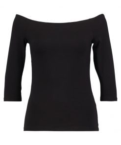Dorothy Perkins BASIC BARDOT Camiseta manga larga black
