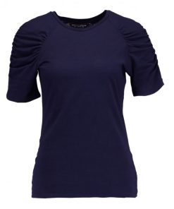 Dorothy Perkins RUCHES Camiseta print navy blue