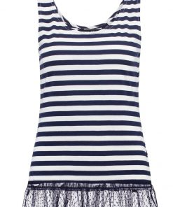 Dorothy Perkins STRIPE Camiseta print navy blue