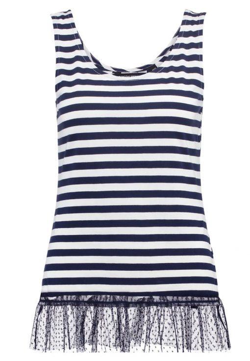 Dorothy Perkins STRIPE Camiseta print navy blue