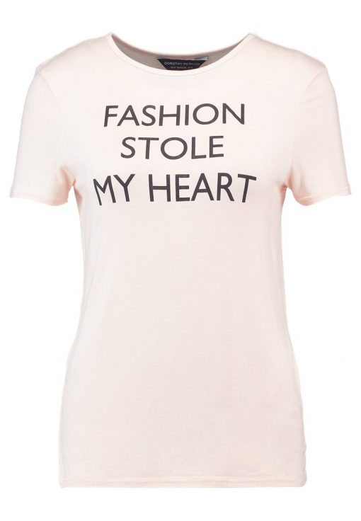 Dorothy Perkins FASHION STOLE MY HEART  Camiseta print peach