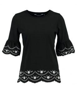 Dorothy Perkins EMBROIDERD FLUTE Camiseta print black