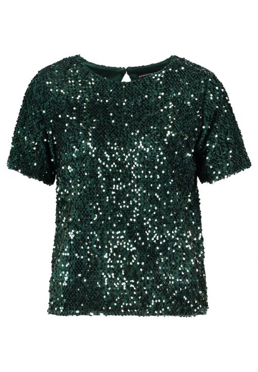 Dorothy Perkins SEQUIN Blusa green