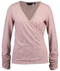 Dorothy Perkins BRUSHED RUCH SLEEVE WRAP Camiseta manga larga rose