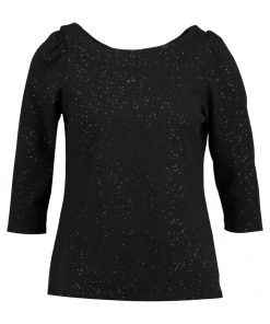 Dorothy Perkins MUTTON SLEEVE SPACE Camiseta manga larga charcoal