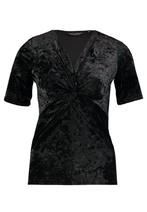 Dorothy Perkins TWIST FRONT Camiseta print black