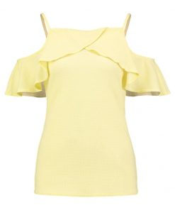 Dorothy Perkins COLD SHOULDER Camiseta print yellow