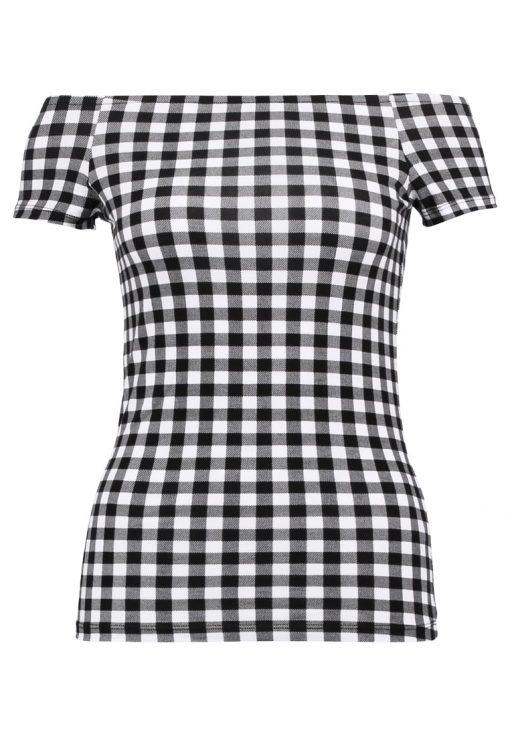 Dorothy Perkins GINGHAM Camiseta print black
