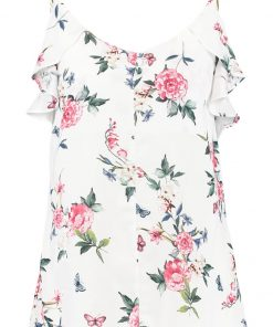 Dorothy Perkins BUTTERFLY Top cream