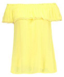 Dorothy Perkins POM POM TRIM BARDOT Blusa yellow