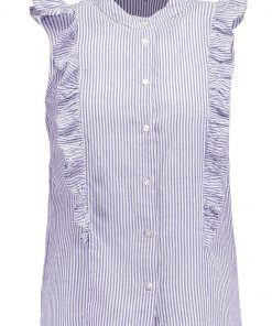 Dorothy Perkins STRIPE SLEEVELESS Camisa blue