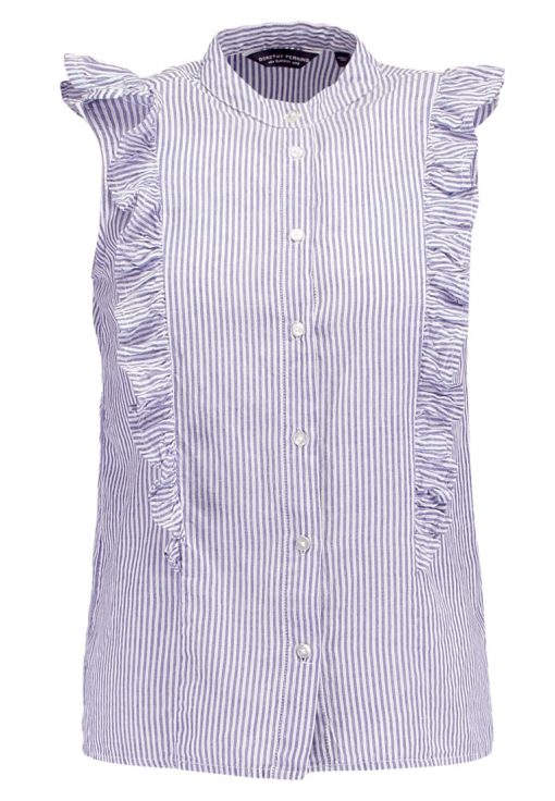 Dorothy Perkins STRIPE SLEEVELESS Camisa blue