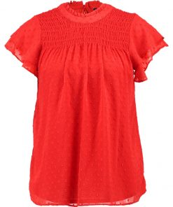 Dorothy Perkins SHIRRED DOBBY Blusa red
