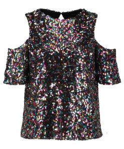 Dorothy Perkins MULTI SEQUIN COLD SHOULDER  Camiseta print multi bright