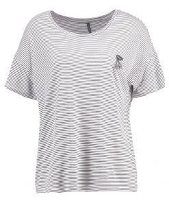 Freequent CINDIE Camiseta print offwhite/black