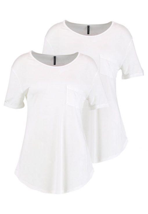 Freequent TRISA Camiseta básica offwhite