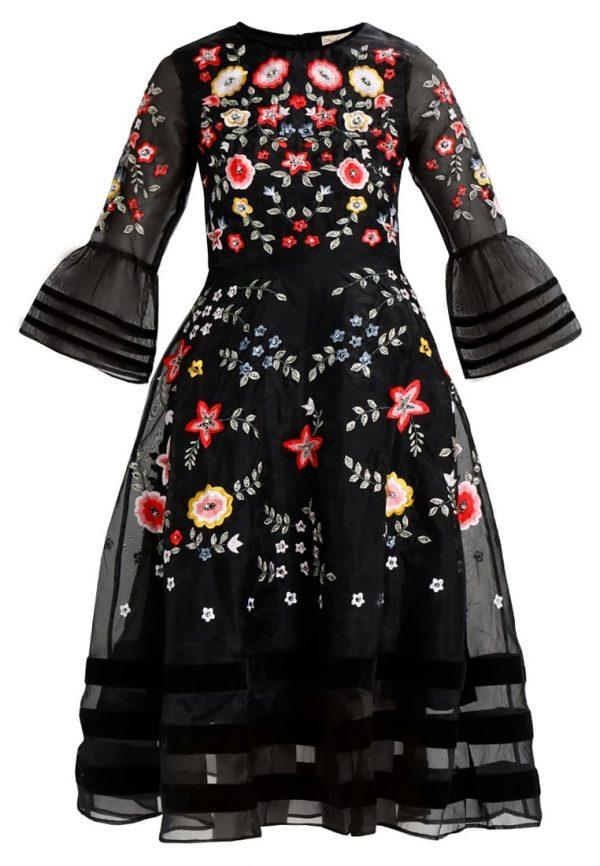 Frock and Frill BRYELLE FLORAL MIDI DRESS Vestido de cóctel black
