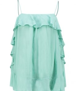 Free People CASCADES Top blue