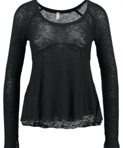 Free People SUPER SCOOP  Camiseta manga larga black