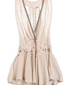 Free People MEGAN PEPLUM Top cream