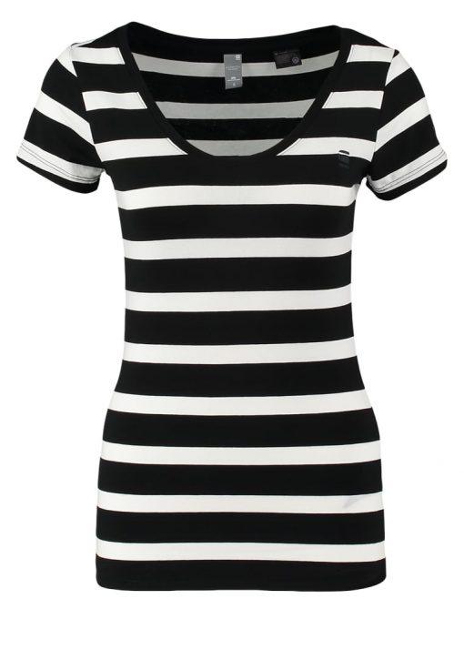 GStar BASE R T CAP SL Camiseta básica black/milk