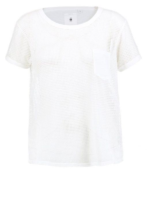 GStar ZALOW STRAIGHT R S/S Camiseta print milk