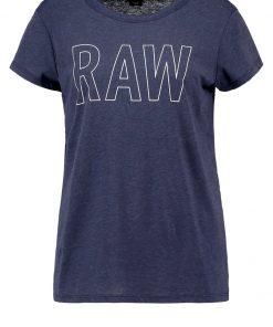 GStar CIRST STRAIGHT R T S/S Camiseta print sartho blue heather