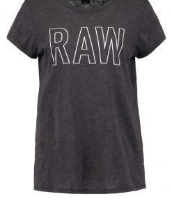 GStar CIRST STRAIGHT R T S/S Camiseta print black heather