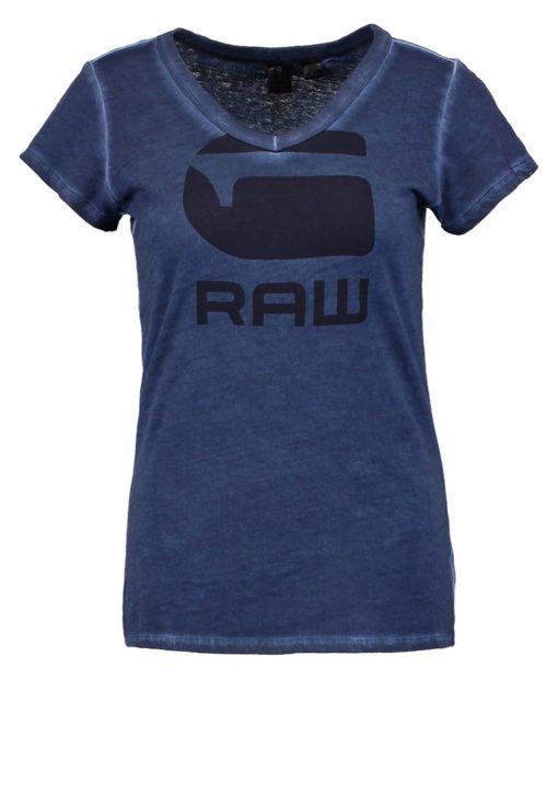 GStar SUPHE SLIM V T S/S Camiseta print sartho blue