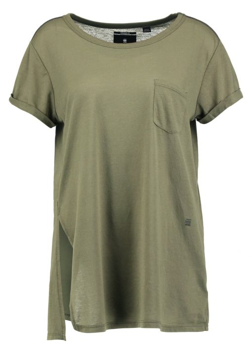 GStar ROA STRAIGHT POCKET  Camiseta básica sage