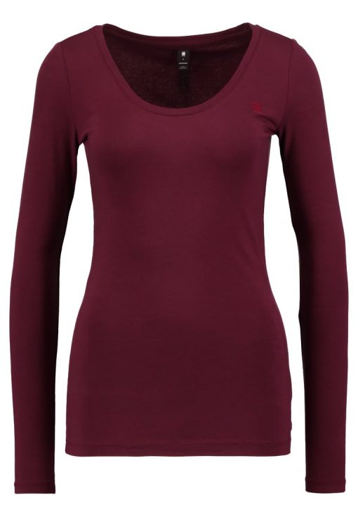 GStar BASE DEEP R T L/S Camiseta manga larga maroon