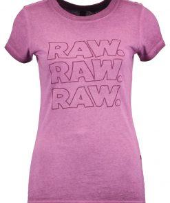 GStar EPZIN SLIM R T S/S Camiseta print maroon