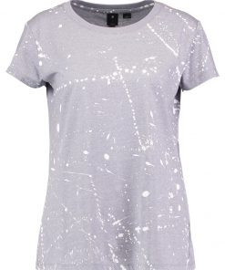 GStar LUUTO SPLATTER STRAIGHT R T S/S  Camiseta print grey heather/milk