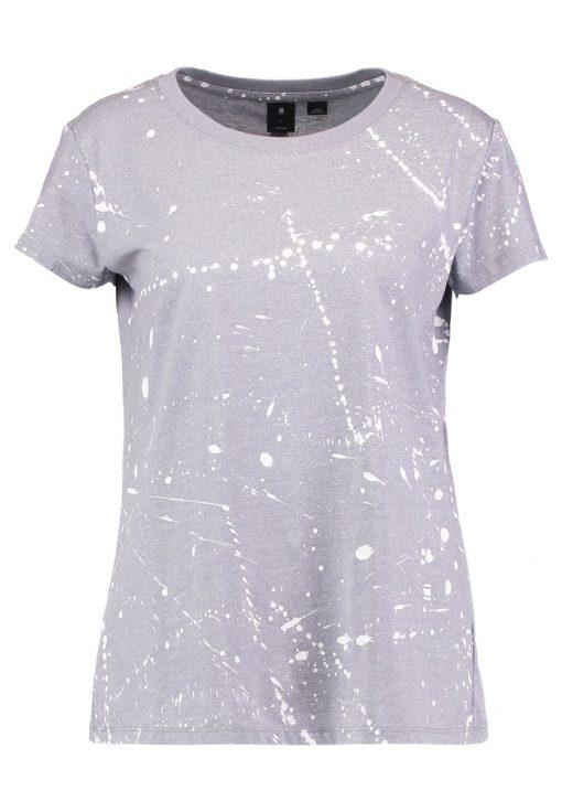 GStar LUUTO SPLATTER STRAIGHT R T S/S  Camiseta print grey heather/milk