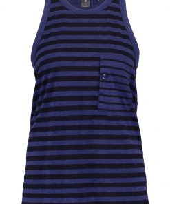GStar OSTALI STRIPE R TANKTOP  Top imperial blue/black
