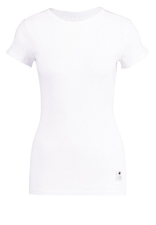 GStar SILBER SLIM R T S/S Camiseta básica white