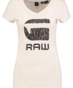 GStar SUNDU SLIM V T S/S Camiseta print ivory