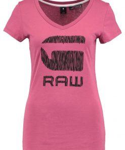 GStar SUNDU SLIM V T S/S Camiseta print lt garnet
