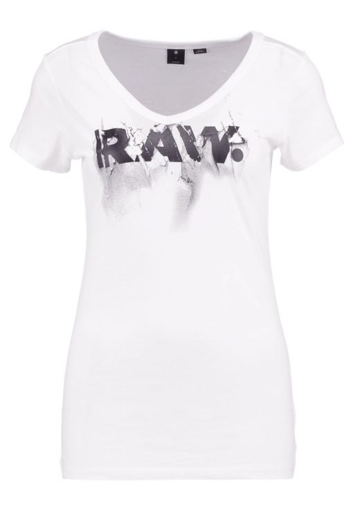 GStar DAEFERA SLIM V T S/S Camiseta print white