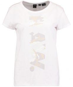 GStar DANARIUS STRAIGHT R T S/S Camiseta print white